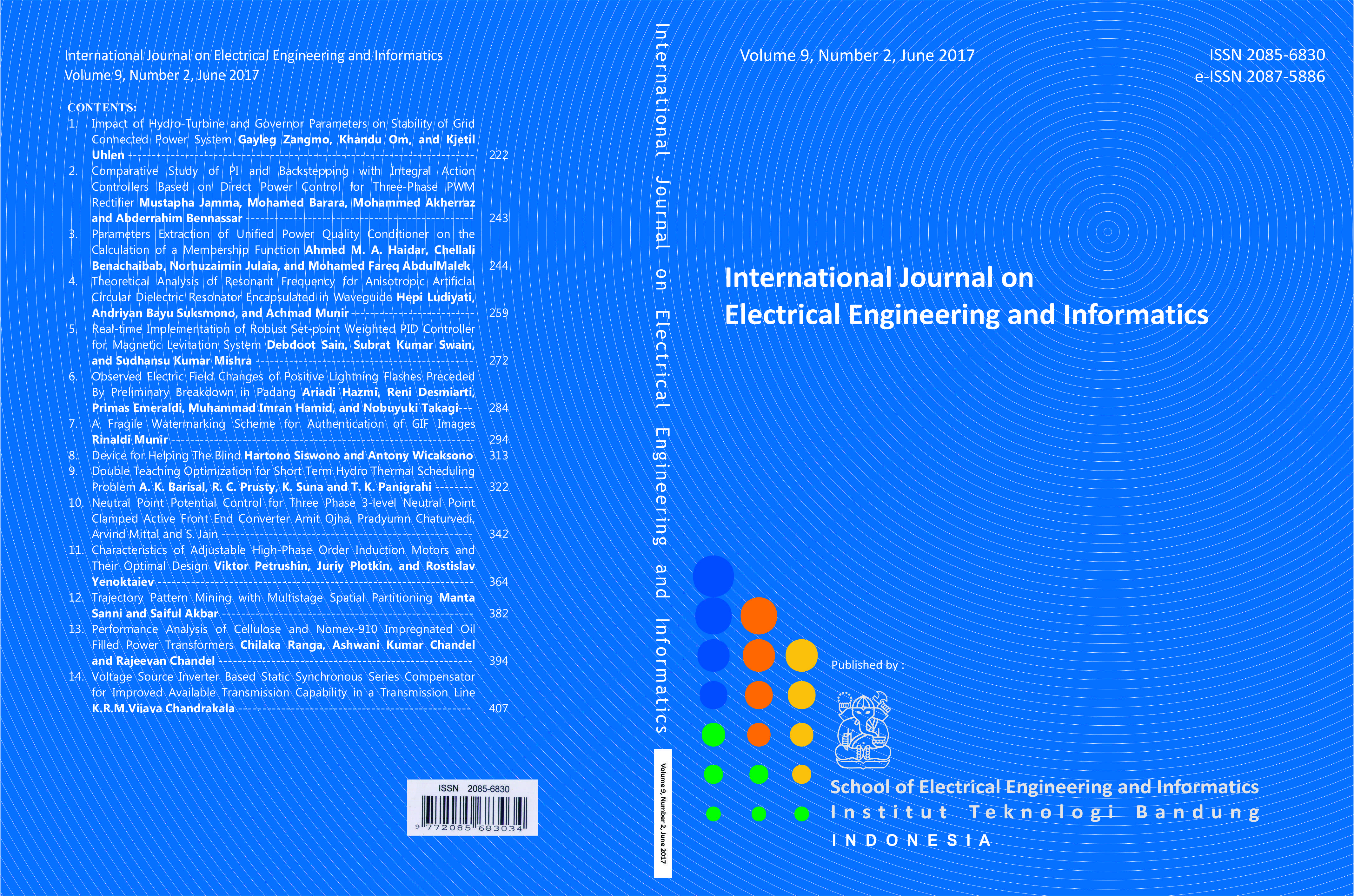 Journal cover Vol. 9 No. 2, June Year 2017