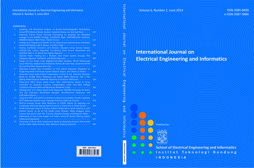 Journal cover Volume 6 Number 2 Year 2014